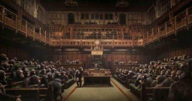 Сатиру Бэнкси на английский парламент продали за 10 миллионов фунтов