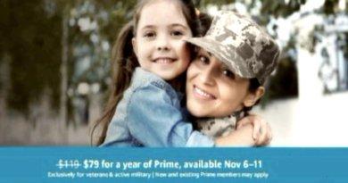 Amazon Prime объявляет «Большую Военную Скидку» на День ветеранов
