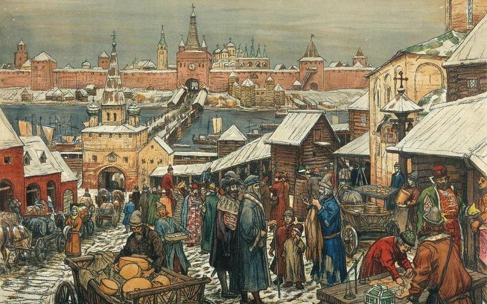 средневековый торг