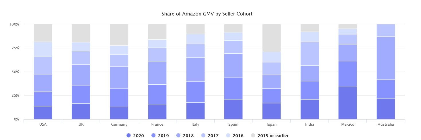 Marketplaces Year in Review 2020 10 Amazon sellers cohort
