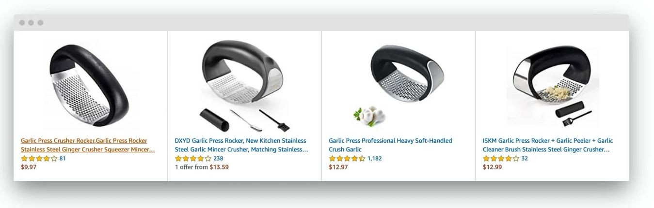 Marketplaces Year in Review 2020 13 Amazon garlic press