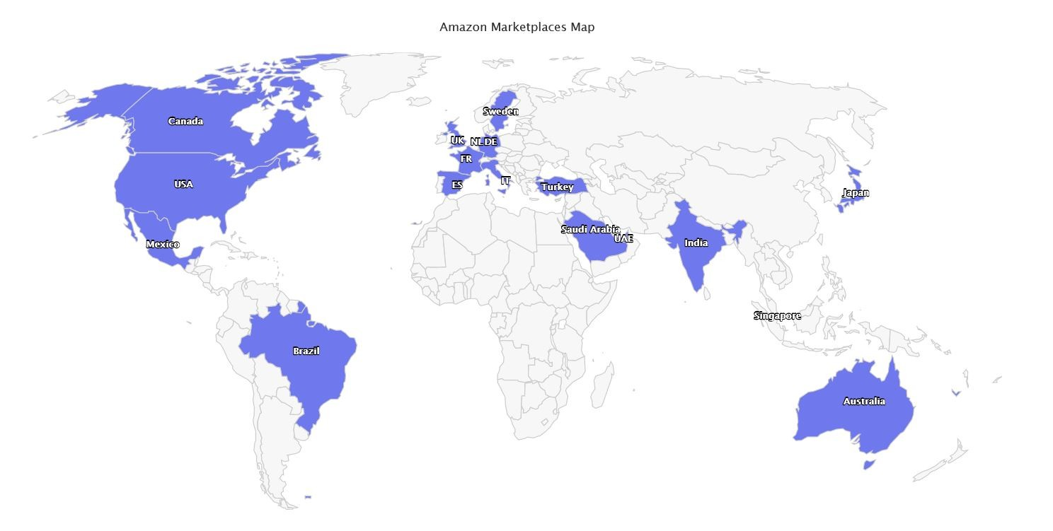 Marketplaces Year in Review 2020 37 Amazon Map
