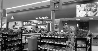 McDonald's in Walmart_bw_