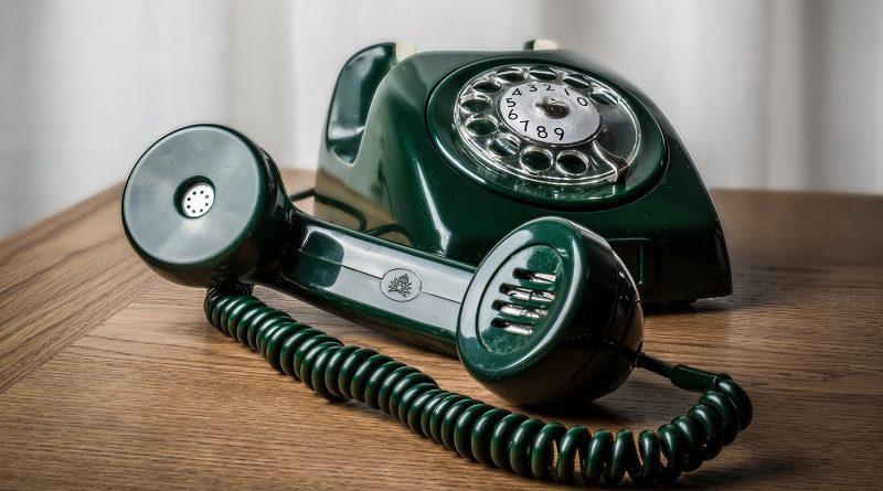 трубка старого телефона_