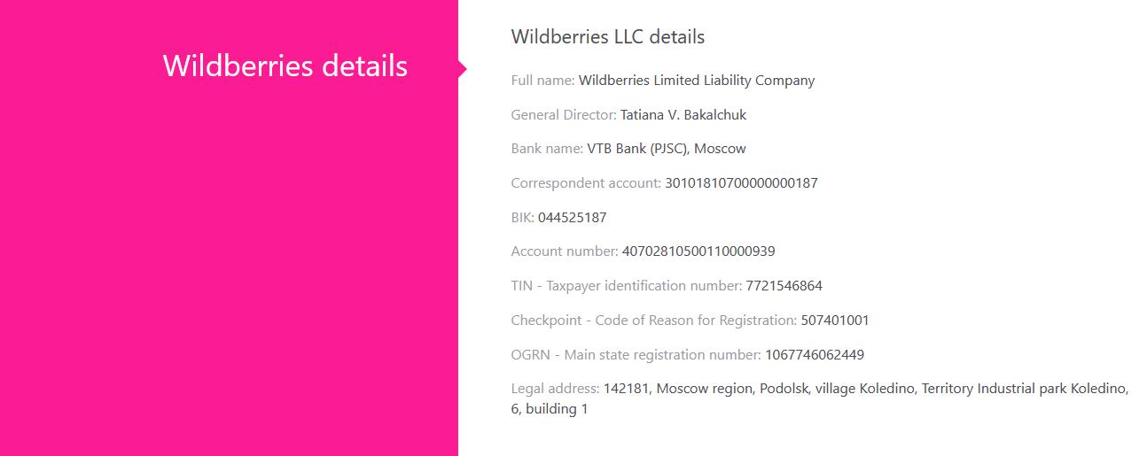 Wildberries_Baltia Contacts